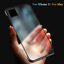 High Quality Ultra Thin Frameless Case Transparent Matte Phone Cover for iPhone 11 Pro Max