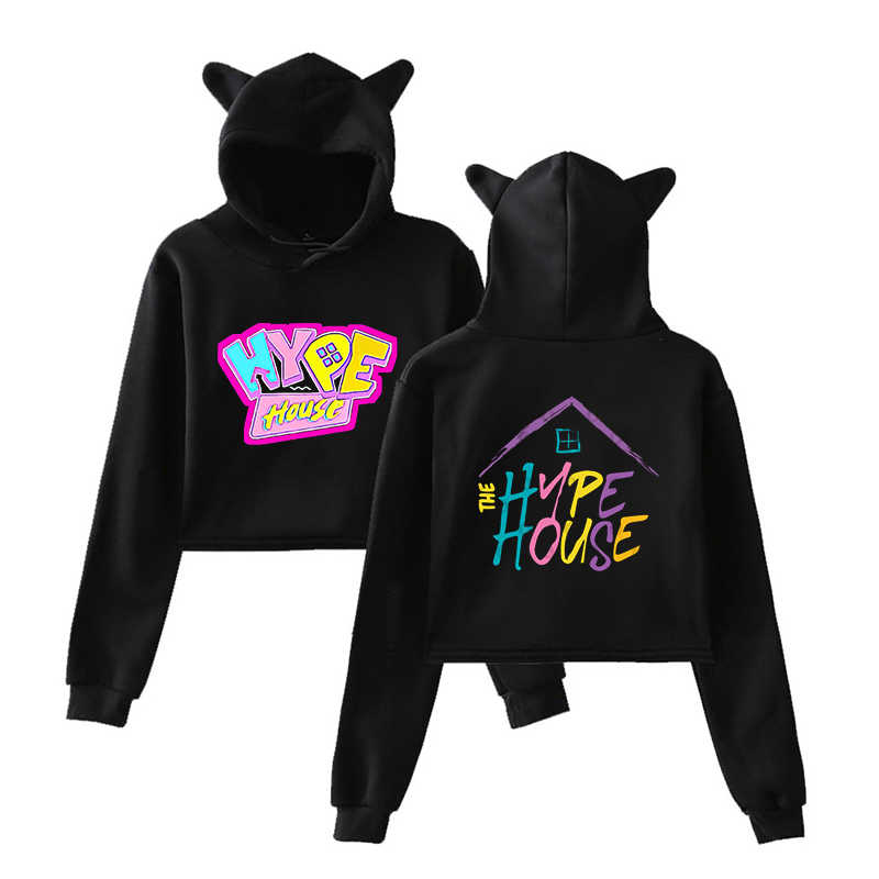 Nieuwe Mode 2020 Sportkleding Vrouwen Kawaii Sweatshirt Hype Huis Meisje Katoen Hoodies Herfst Karakter Korte Hooded Truien