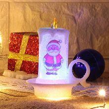 12Pcs Flameless Christmas LED Tea Light Candles Colored Lights for Holiday Decor