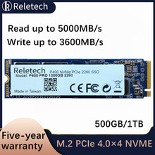 Reletech M.2 P400Pro m2 ssd NVMe PCIe 4.0×4 500GB 1TB 5000MB/s Solid State Drive independent cache Internal Hard Disk for Laptop