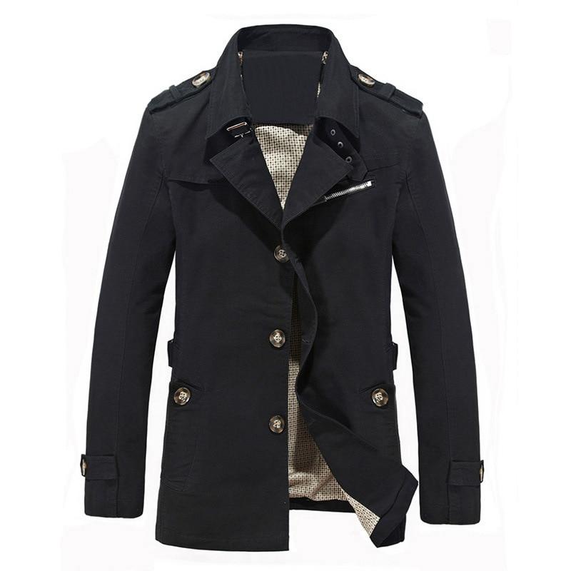 Men Jacket Outdoor Pure Cotton Long Coat Casual Military Jacket Windbreaker Jacket Mens Coats and Jackets Streetwear M - 5XL