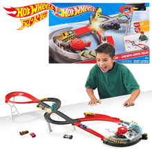 Hot Wheels Roundabout Track Toys Model Cars Classic Toy Car Birthday Gift For Children Pista Hotwheels Juguetes X2589