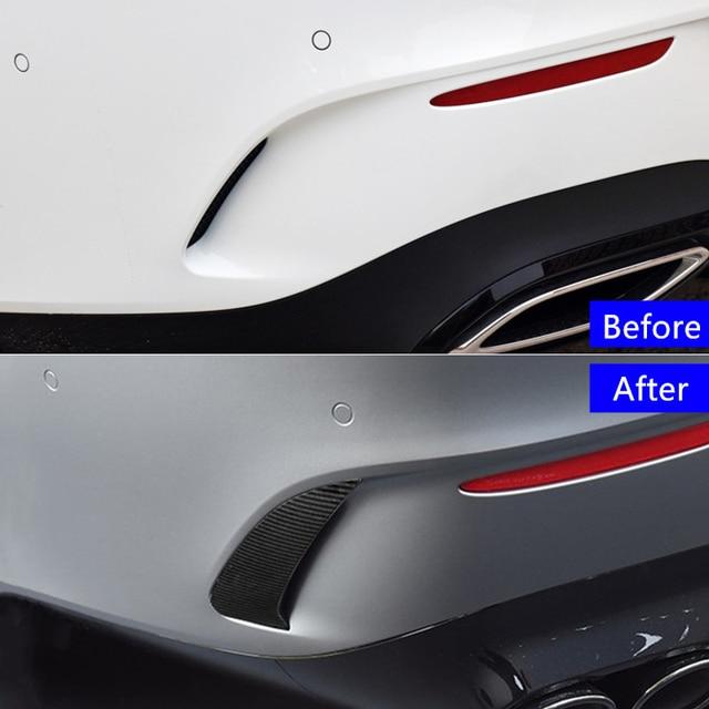 Car Styling Rear Bumper Grille Slats Spoiler Flap Wing Decoration Cover Trim Exterior For Mercedes Benz CLA C118 CLA200/220 2020 4
