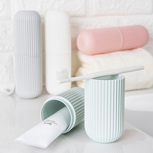 Portable Toothbrush Toothpaste Holder Storage Box Mouth Cup Outdoor Travel Facial Cleanser Organizer Case Bathroom Accessories