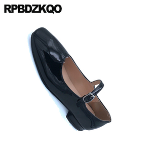 Image 5 - 2019 women chinese black square toe mary jane patent leather red cheap shoes china slip resistant ladies spring autumn designer