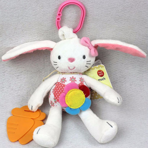 Pudcoco High Quality Baby Rattle And Teether Soft Baby Toys Little Rattle Sound Cute Rabbit Animal Bed Hanging Toys