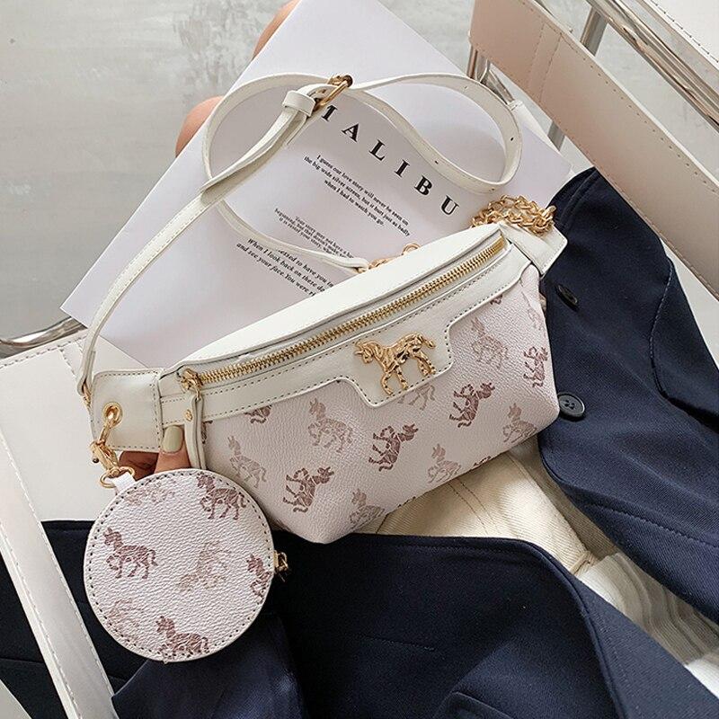 Small Solid Color Waist Packs For Women 2020 Fashion Summer Chest Bags Female Fashion Shoulder Bag Travel Handbag