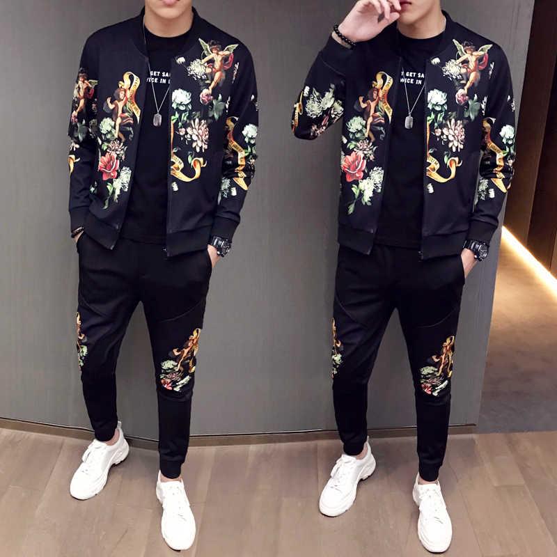 Chaqueta Nueva Pantalones Para Hombre Chandal De Moda Para Hombre Conjunto De Moda Con Estampado Traje Deportivo Para Hombre Conjuntos De 2 Piezas De Talla Grande 5xl Primavera 2020 Conjuntos Para Hombres Aliexpress