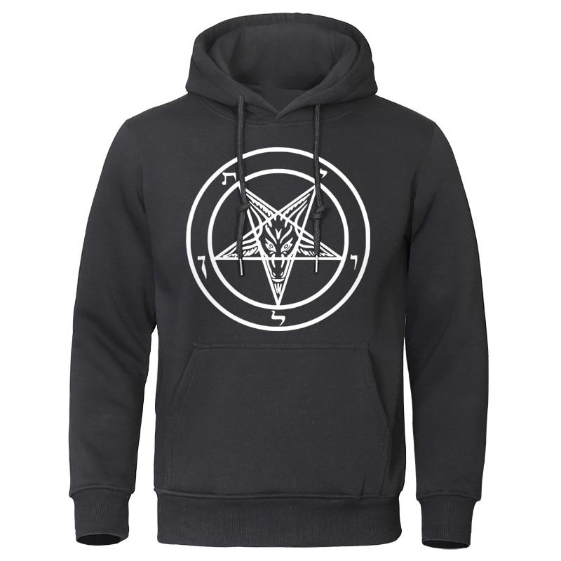 Unisex Baphomet Hoodie Hoody Pentagram Satanic Occult Church of Satan Goat Goth