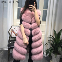 Womens Winter Fashion 2020 Natural Fox Fur Vest Real