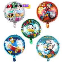 5pcs/set 18 inch Mickey Minnie Duck Aluminum Film Ball Elmo Winnie the Pooh Mermaid Cartoon Anime Birthday Ballo