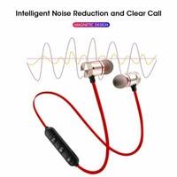 Auriculares inalámbricos deportivos con micrófono, audífonos estéreo magnéticos montados en el cuello compatibles con Bluetooth 4,1