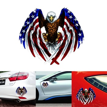 US American Flag Bald Eagle Car Body Sticker Auto Window Bumper Motorcycle Decoration USA Eagle Decal For BMW Honda Toyota image