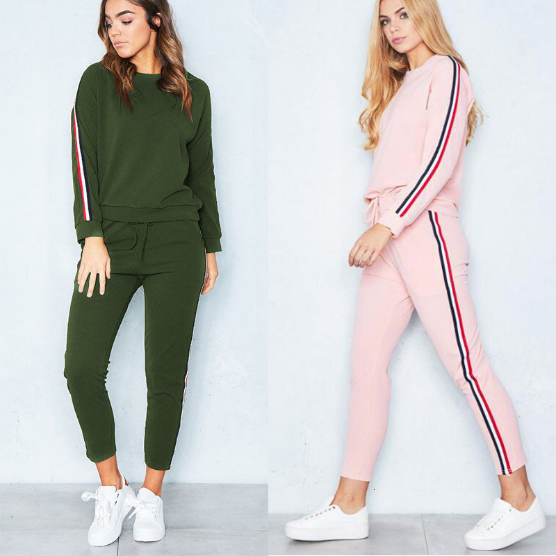 2pcs Women Cashmere Sweater Two Piece Plus Sizes Sets Slim Tracksuit 2019 Spring Autumn Fashion Sweatshirts Sporting Suit Female