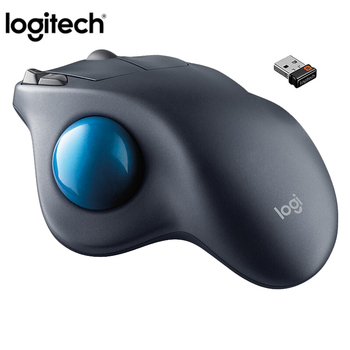 100% Original Logitech M570 2.4Ghz Wireless Ergonomic Vertical Professional Drawing Laser Mice Trackball Mouse For Win10/8/7 1