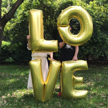 30/40 Inch English Letters LOVE4pcs Aluminum Film Balloon Valentine's Day Party Decoration Happy Birthday Supplies(China)
