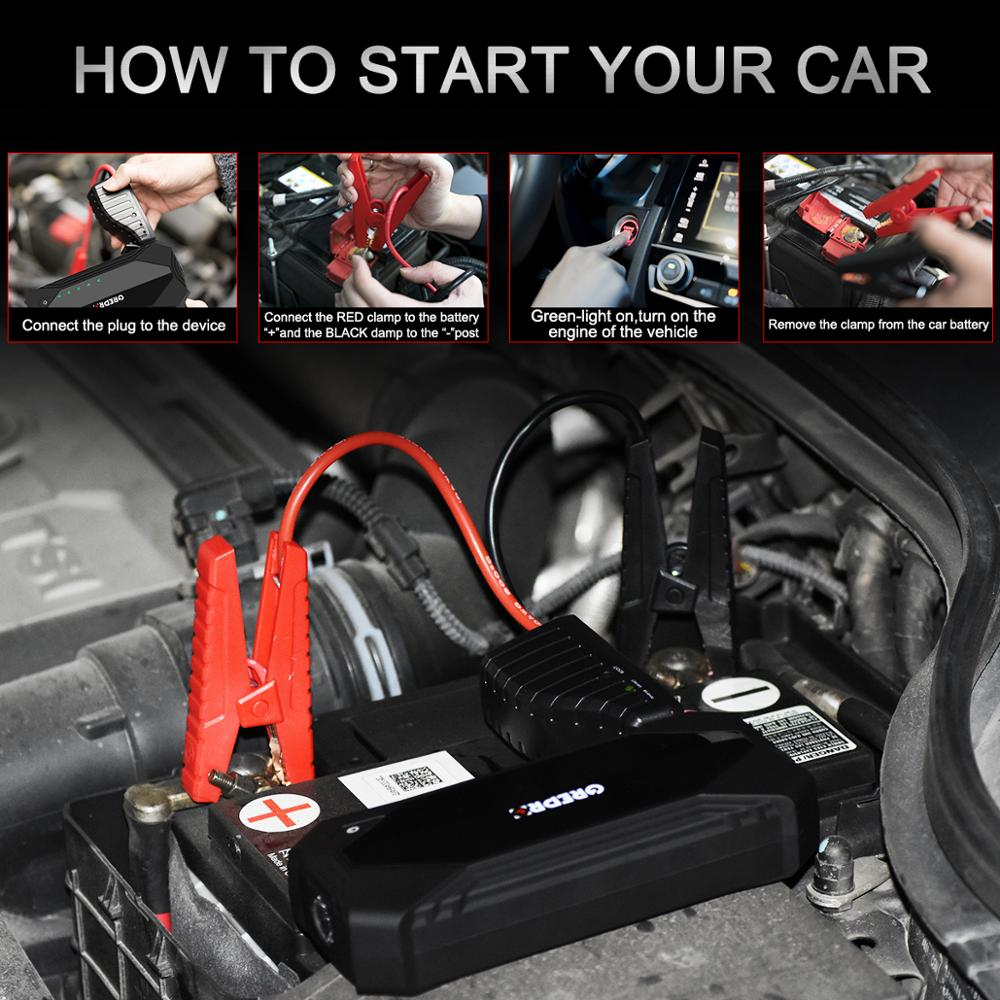 New Arrival Car Jump Starter 1200A Car Booster 12V Car Buster Auto Starting Device Vehicle Emergency