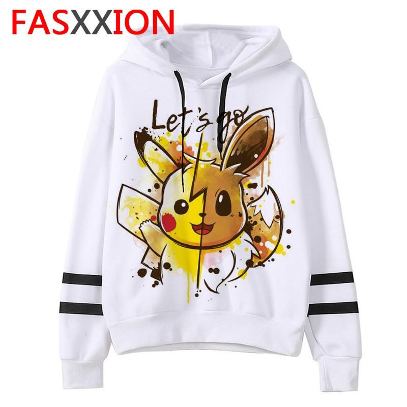 Pokemon Go Sweatshirt Kawaii Cartoon Men/women Pikachu Hoodies Oversized Streetwear Funny Male Tumblr Grunge Vintage