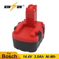 Bateria 14.4 v 3.0ah ni-mh da ferramenta elétrica da substituição de kinsun para a broca sem fio 2 607 335 263 gdr 14.4 v gho 14.4 v psb 14.4 v