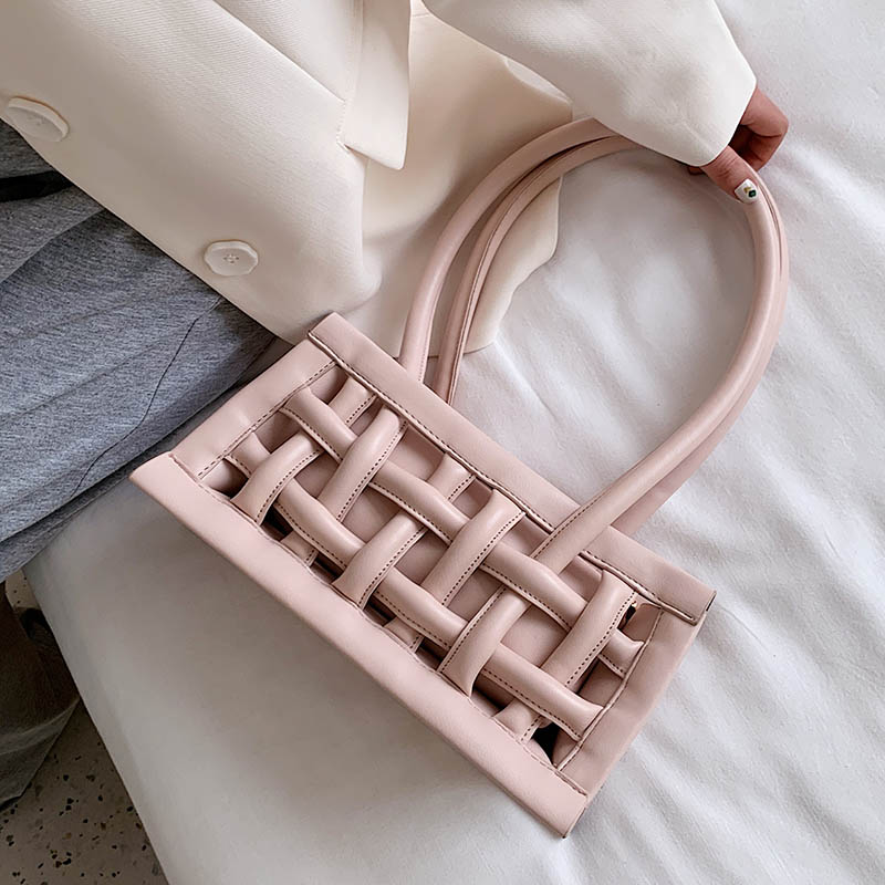 Waffle PU Leather Shoulder Bags For Women 2020 Small Handbags Female Candy Color Hand Bag Lady Travel Fashion Handbag