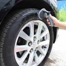 Opona samochodowa szczotka tarczowa szczotka do mycia uchwyt z tworzywa sztucznego czyszczenie pojazdu szczotka tarczowa felgi opony szczotka do mycia Auto szczotka do szorowania tanie tanio EAFC CN (pochodzenie) Tire cleaning brush 17*13*10cm Tyre cleaning brush Tyre brush Car wheel brush car tire brush
