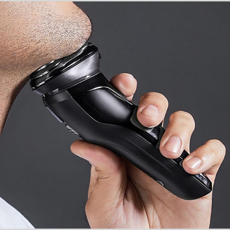 Image 5 - Xiaomi Pinjing Electric Shaver Razor Men Washable USB Rechargeable Wireless 3D Smart Control Shaving Beard MachineElectric Shavers   -