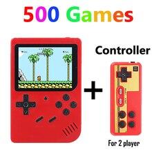 Coolbaby RS 6 A Retro przenośny Mini przenośna konsola do gier 8 Bit 3.0 Cal kolorowy wyświetlacz LCD dla dzieci kolor gry gracz wbudowany w 168/500 gry