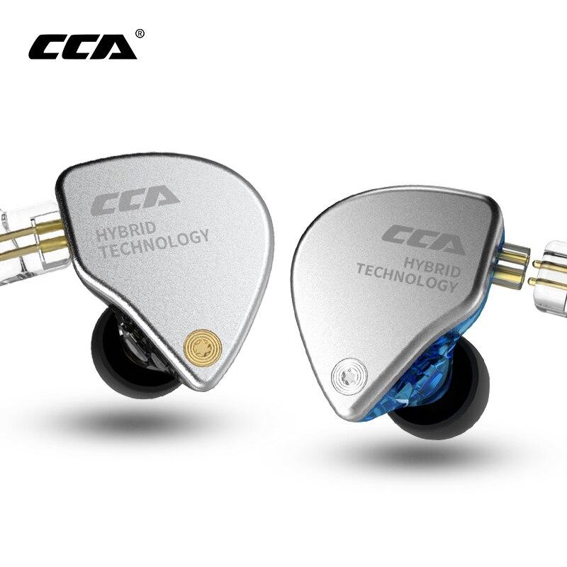 CCA CA4 fone de ouvido 1BA+1DD Hybrid 2PIN In Ear Earphone HIFI DJ Monito Running Sport Earphone Headset Earbud Headphone CCAC10
