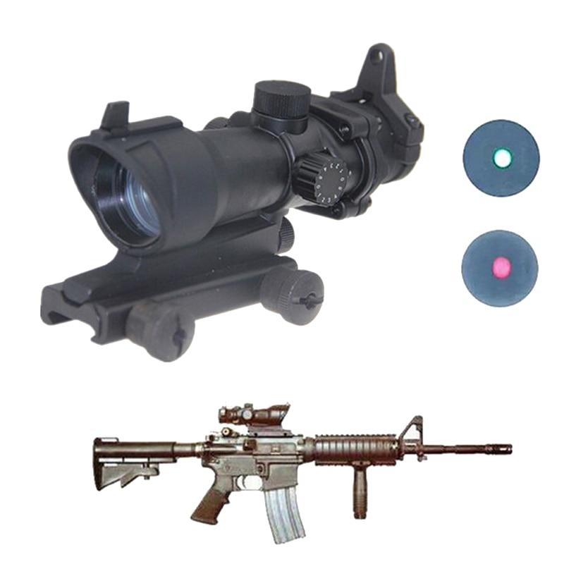 Охотничий Тактический Прицел ACOG Тип 1x32 красный/зеленый точечный прицел с 22 мм креплением страйкбола оптика для стрельбы