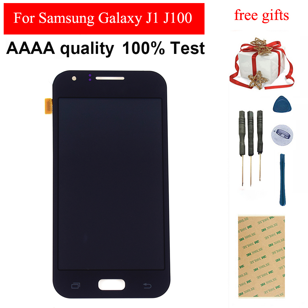 Für <font><b>Samsung</b></font> Galaxy J1 J100F J100H <font><b>J100</b></font> SM-J100F Touchscreen Digitizer Senor Glas Panel + <font><b>LCD</b></font> Display Monitor Modul Montage image