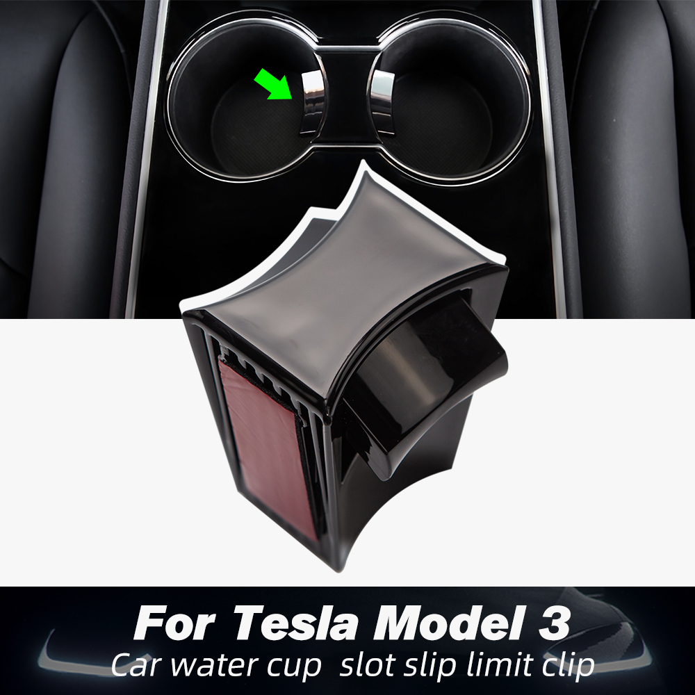 Model3 Car Water Cup Slot Slip Limit Clip For Tesla Model 3 Accessories 2017 2018 2019 2020 ABS Car Cup Holder Limiter