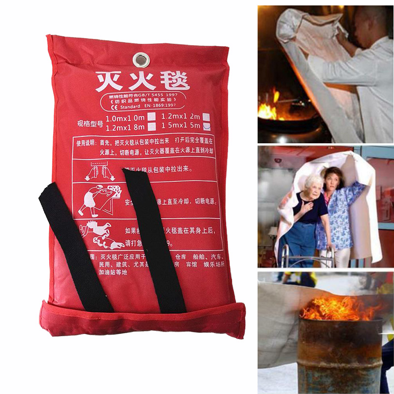 2Mx2M Fire Blanket Fiberglass Fire Flame Retardant Emergency Survival Fire Shelter Safety Cover Fire Emergency Blanket