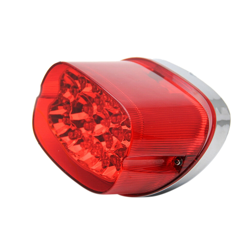 Motorcycle LED Tail Light Softail Electra Red Lens Brake Turn Signal License Plate Lamp|  - title=