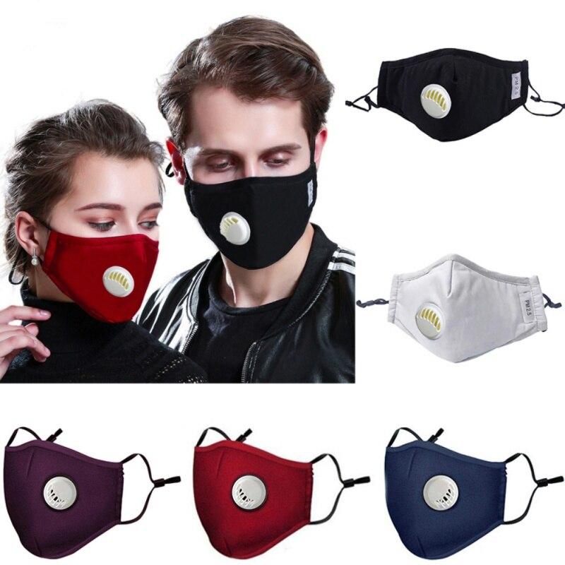 Пылезащитная маска с 2 фильтрами легко дышит многоразовая смываемая маска для лица для занятий спортом на открытом воздухе защита от пыли PM2...