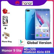 Honor 9 lite smartphone kirin 659 telefones celulares 5.65 polegada ips tela 4g 32g google play store emui 8.0