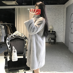 2020 Natural Mink Fur Coat Women Top Quality Winter Warm Coats Thickening Female Outwear Plus Size Jacket 813 MF334