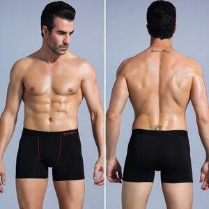 Image 5 - בוקסר גברים תחתוני זכר גברים של תחתונים מתאגרפים Homme כותנה Boxershorts תחתוני תחתוני למשפחה סקסי
