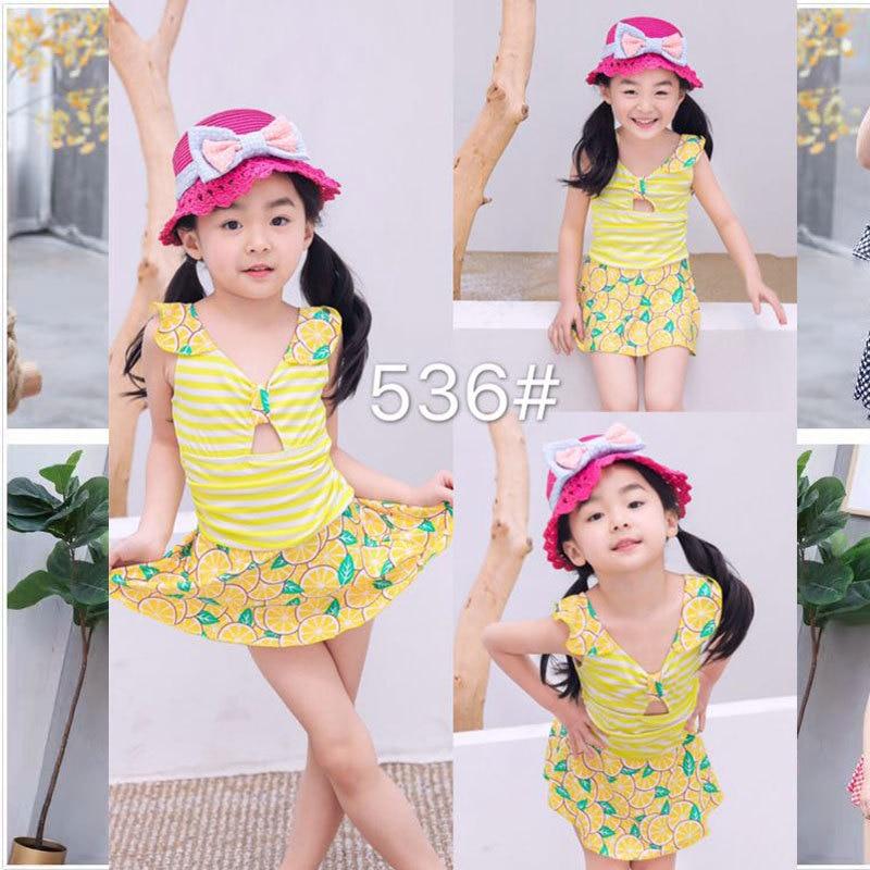 Kids Siamese Swimsuit Children GIRL'S Swimsuit (4-8 Years Old) 536 CHILDREN'S Swimwear