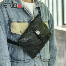 Aetoo ретро кожаная сумка через плечо мягкая мужская нагрудная