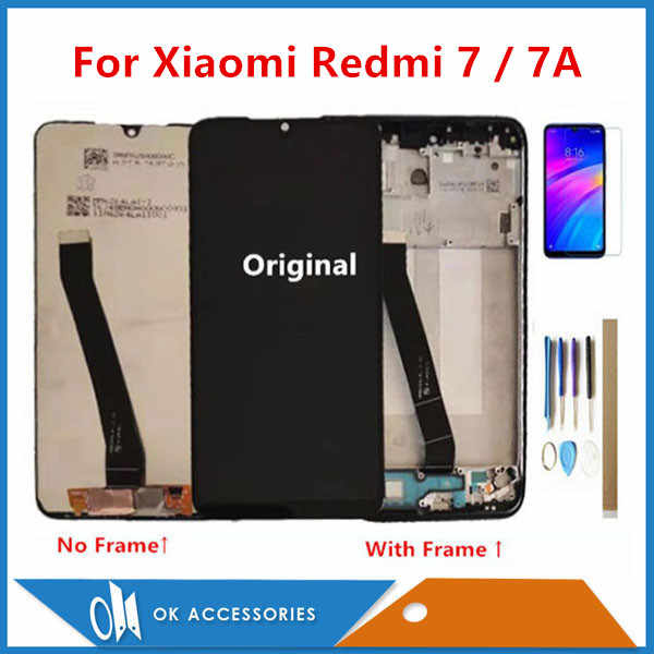 "Original 6,26 ""Für Xiaomi Redmi 7 Redmi7 Redmi 7A Redmi7A LCD Display Mit Touch Screen Digitizer Sensor Mit Rahmen mit Kits"