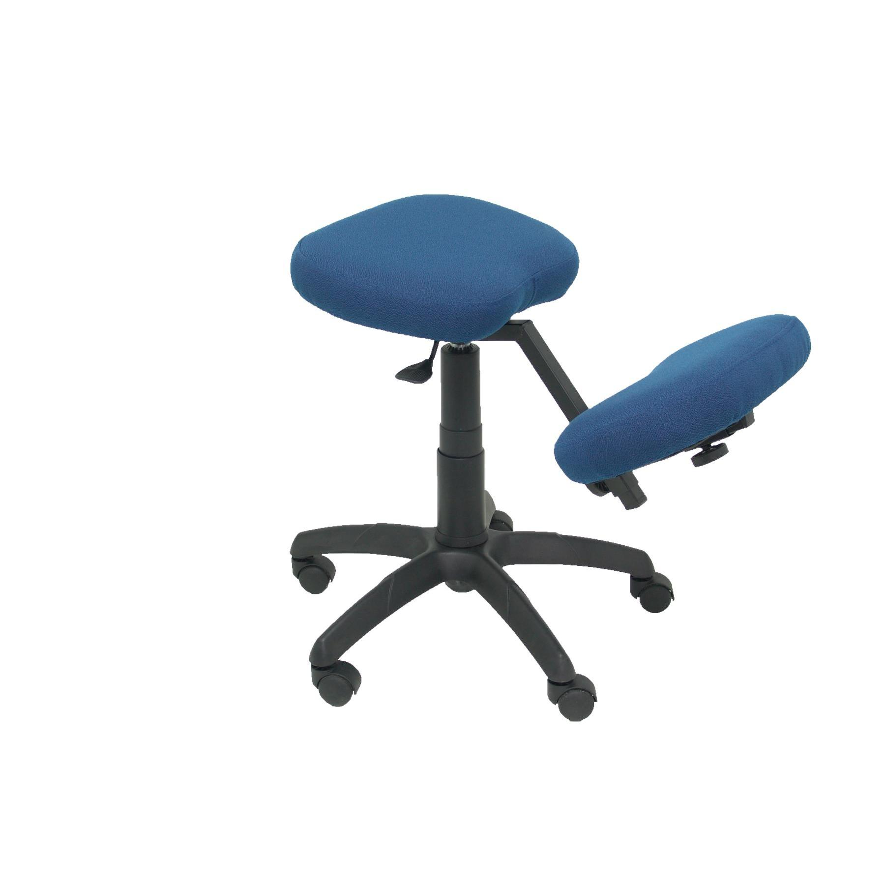 Office's Stool Ergonomic Swivel And Dimmable In High Altitude Up Seat Upholstered In BALI Tissue Color Navy Blue (RODI