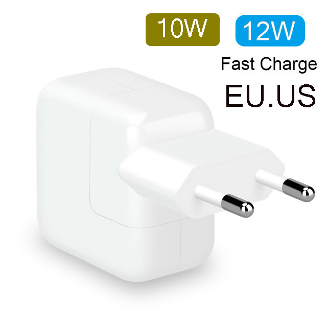 2.4A Fast Charging 12W USB Power Adapter Phone Travel Home Charger For IPhone X 8 Plus 7 6S 5S IPad Mini Air Samsung For Euro EU