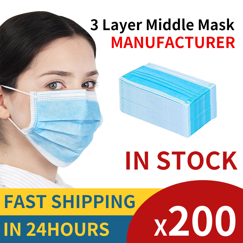 Masks Face 3 Layer Ply Disposable Protective For 25 50 80 94 95 96 99 100Pcs Mouth Safety Masque N PM Ffp Fpp Respirator White
