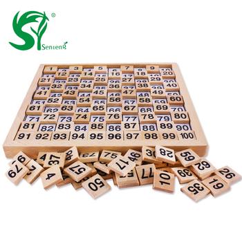 Drewniana pomoc dydaktyczna matematyka pomoc dydaktyczna s buk 1-100 cyfrowa płytka przyłączeniowa wczesna edukacja dla dzieci numery zabawek tanie i dobre opinie 3 lat Drewniane CN (pochodzenie) ST5643 Neutral 1-100 digital board