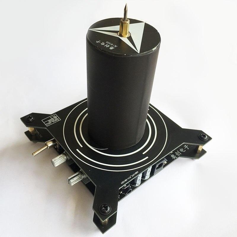Bobina Tesla de alto arco de voltaje, generador de rayos artificiales, altavoz de Plasma, AC-E105