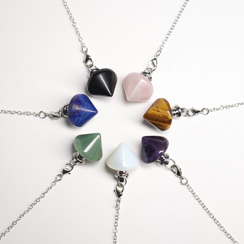 Natural Crystal Pendulum Healing Stone, Mineral Health Talisman Pendulum Simple Fashion Gift For Men And Women