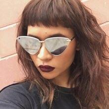 Солнцезащитные очки «кошачий глаз» в стиле ретро женские красные