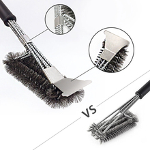 Stainless steel Cleaning Brush for BBQ 3 in1 Churrasco Outdoor Grill Cleaner with of Gas Electric