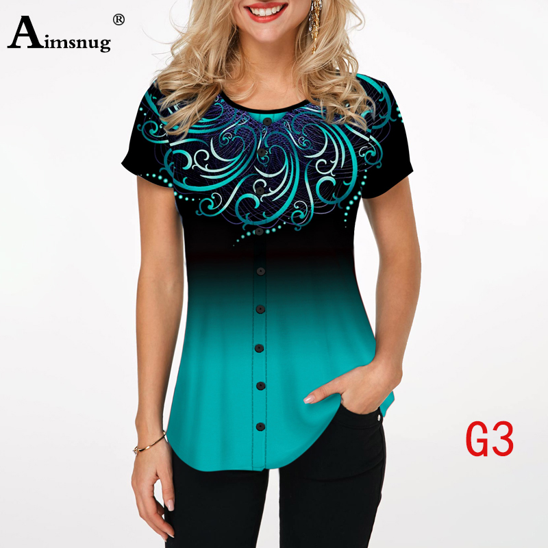 Ha0e2b73048bd49f78f991df333337161S - Plus size 4xl 5xl Women Fashion Print Tops Round Neck Short Sleeve Boho Tee shirts New Summer Female Casual Loose T-shirt