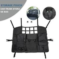 Car Rear Seat Cover for Jeep Wrangler 2007 2019 JK JL 4 Door with Multi Size Organizer Storage Bags/Trunk Cargo Tool Organizers